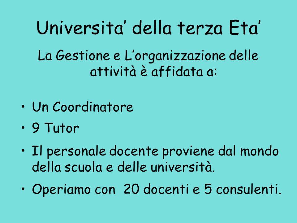 Università della terza Età Anno Accademico 2007-2008 TREND