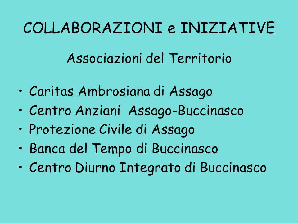COLLABORAZIONI e INIZIATIVE Comune di Assago Comune di Cesano B.ne Comune di Corsico Comune di Buccinasco