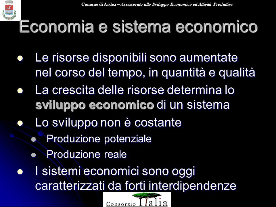Comune di Ardea – Assessorato allo Sviluppo Economico ed Attività Produttive Economia e sistema economico Le risorse disponibili sono aumentate nel co
