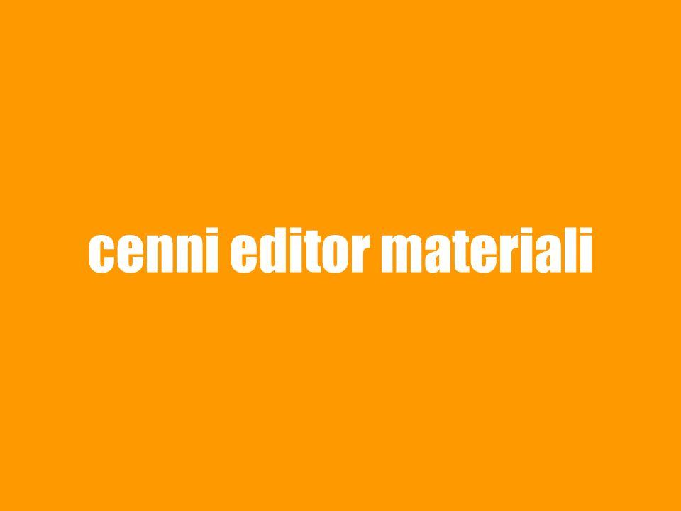 cenni editor materiali
