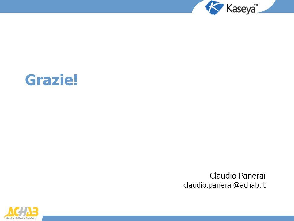 Grazie! Claudio Panerai claudio.panerai@achab.it