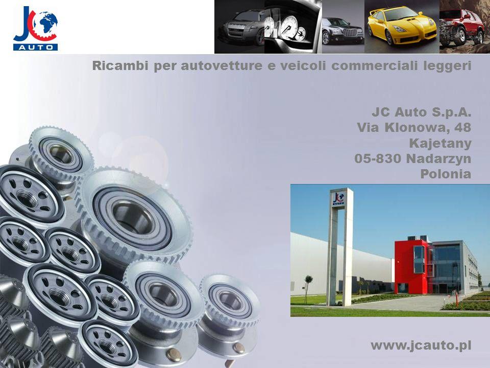Ricambi per autovetture e veicoli commerciali leggeri JC Auto S.p.A. Via Klonowa, 48 Kajetany 05-830 Nadarzyn Polonia www.jcauto.pl