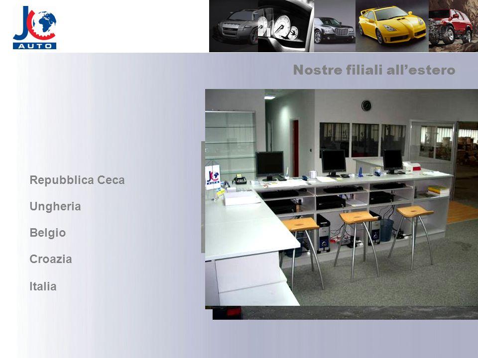 Nostre filiali allestero Repubblica Ceca Ungheria Belgio Croazia Italia