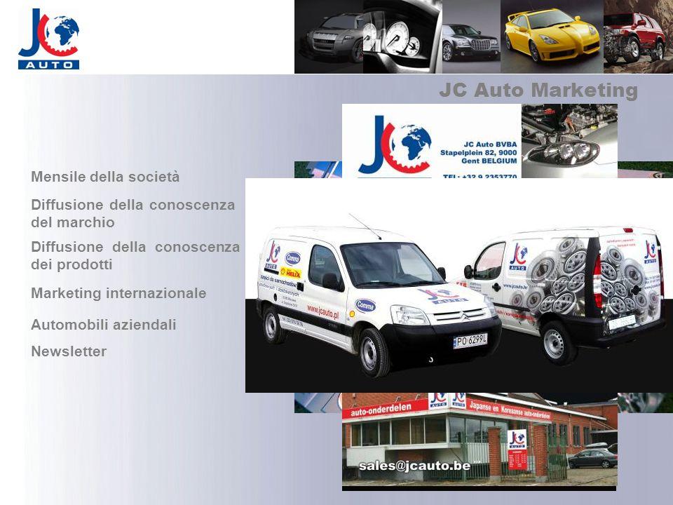 JC Auto Marketing Mensile della società Diffusione della conoscenza del marchio Diffusione della conoscenza dei prodotti Marketing internazionale Auto