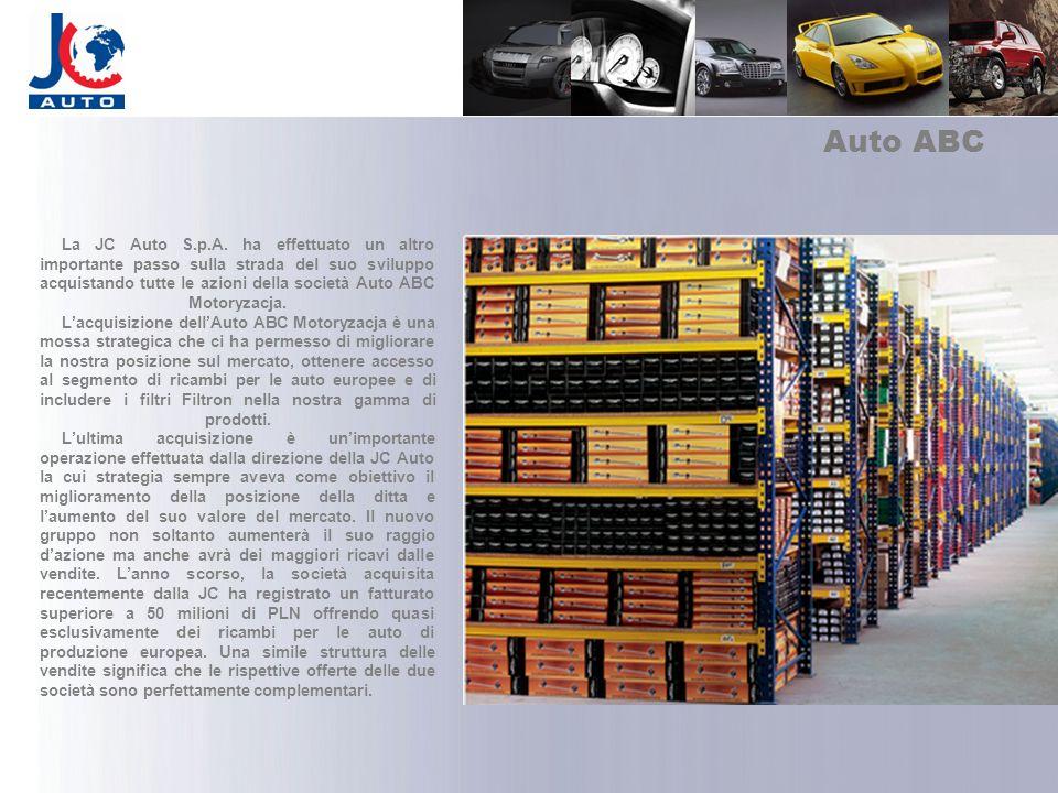 Auto ABC La JC Auto S.p.A. ha effettuato un altro importante passo sulla strada del suo sviluppo acquistando tutte le azioni della società Auto ABC Mo