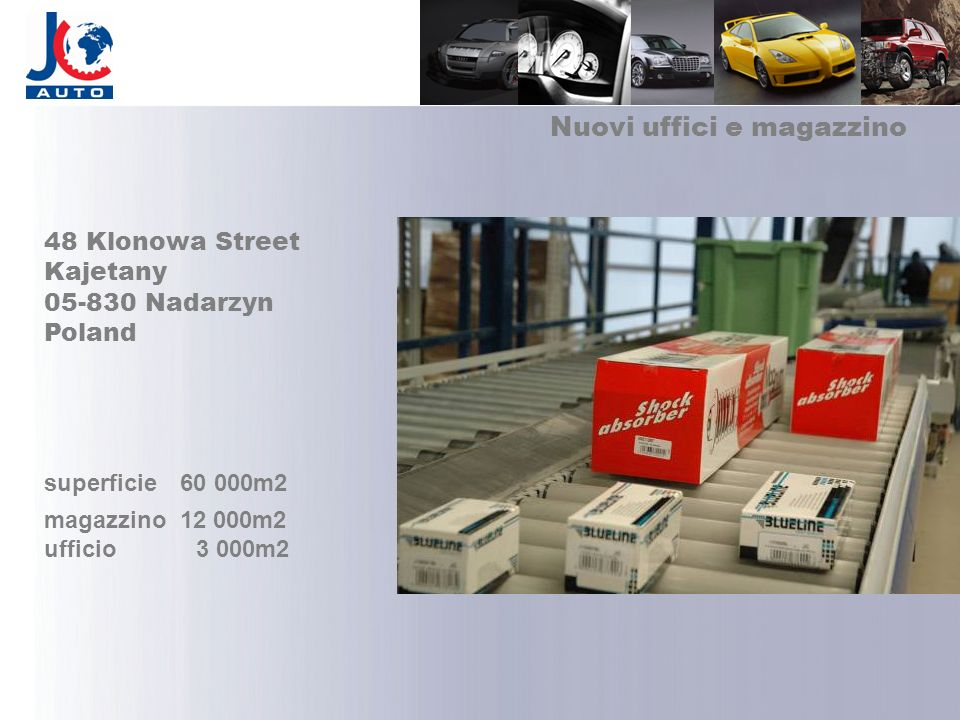 Nuovi uffici e magazzino 48 Klonowa Street Kajetany 05-830 Nadarzyn Poland superficie 60 000m2 magazzino 12 000m2 ufficio 3 000m2