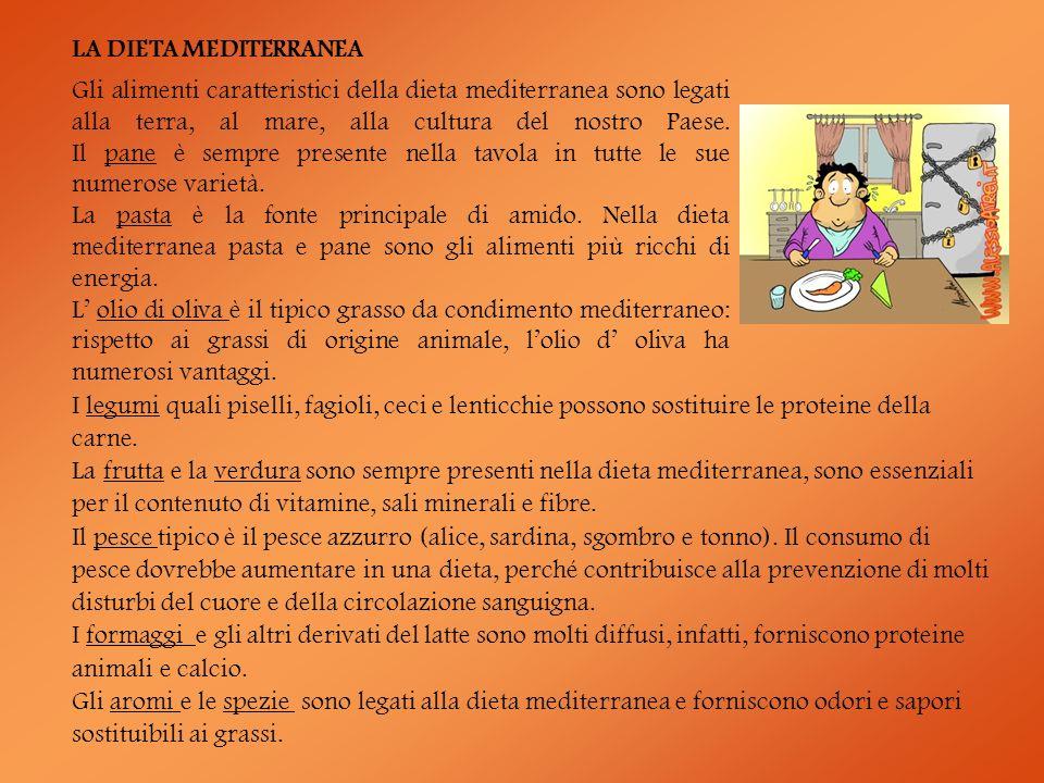 Gli alimenti caratteristici della dieta mediterranea sono legati alla terra, al mare, alla cultura del nostro Paese. Il pane è sempre presente nella t