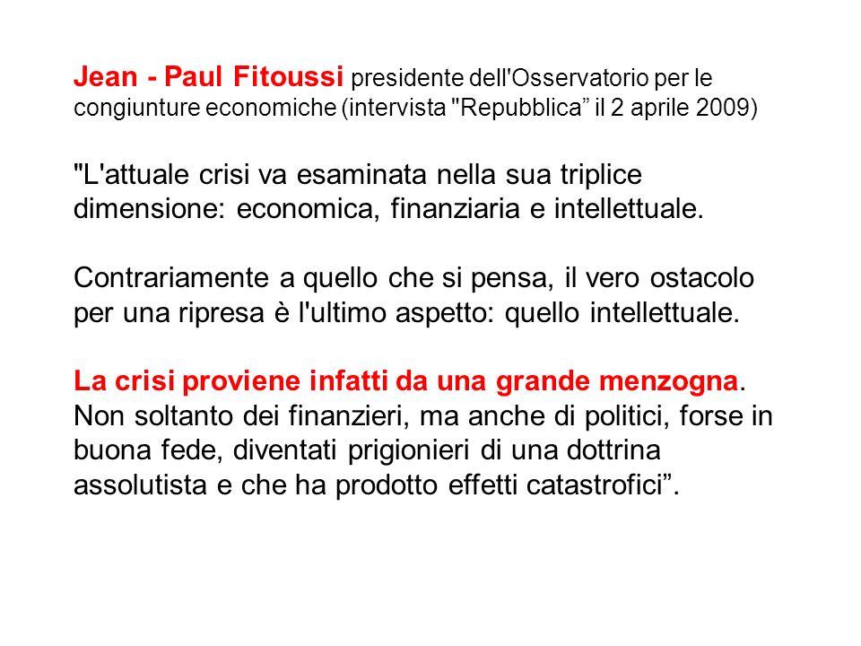 Jean - Paul Fitoussi presidente dell'Osservatorio per le congiunture economiche (intervista