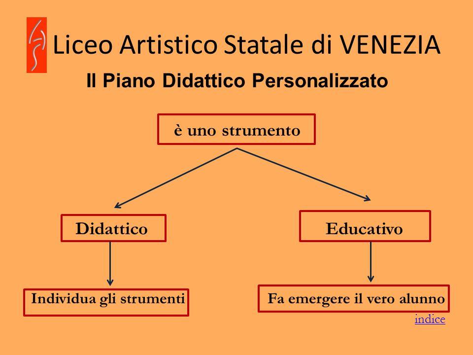 Liceo Artistico Statale di VENEZIA Il Piano Didattico Personalizzato è uno strumento Didattico Educativo Individua gli strumentiFa emergere il vero al