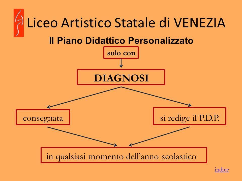 Liceo Artistico Statale di VENEZIA Il Piano Didattico Personalizzato solo con DIAGNOSI consegnata si redige il P.D.P. in qualsiasi momento dellanno sc