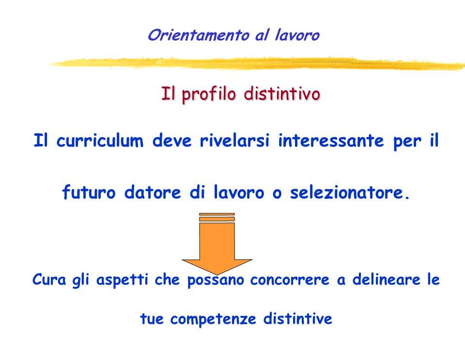 È cruciale che il CV: Ø presenti, in tono positivo, le tue: esperienze qualità o attitudini (es. precisione, rispetto dei tempi, creatività, etc.) com