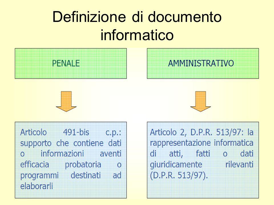 6 Definizione di documento informatico