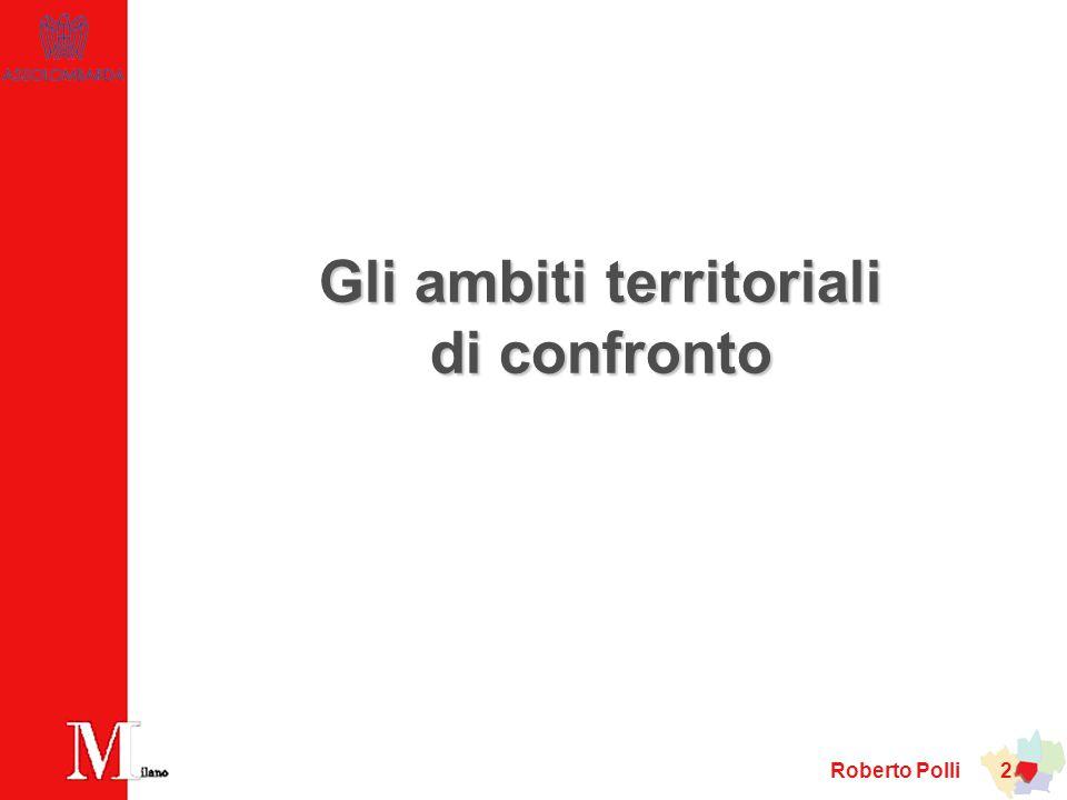 Roberto Polli 23 … ma, nel benchmark europeo, posizione più arretrata in termini di sistema viario e ferroviario Indice di accessibilità alla città con ferrovia – EU27=100 (anno 2003) pag.