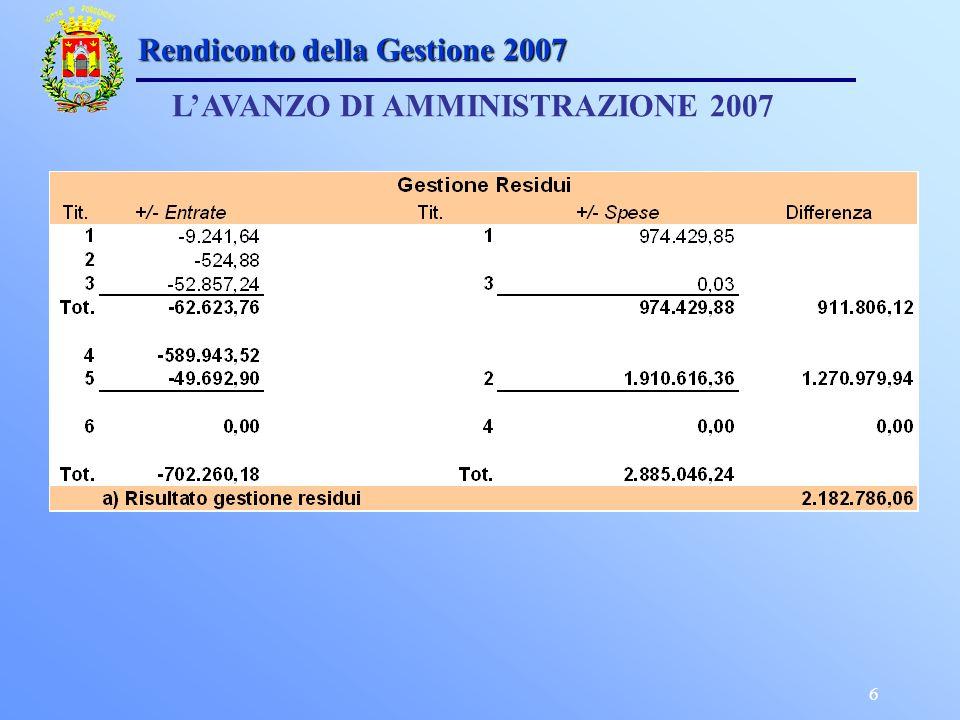 6 LAVANZO DI AMMINISTRAZIONE 2007