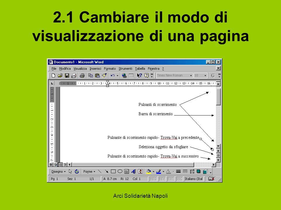 Arci Solidarietà Napoli 2.1 Cambiare il modo di visualizzazione di una pagina