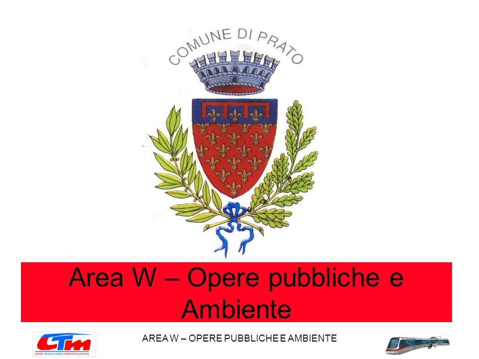 AREA W – OPERE PUBBLICHE E AMBIENTE Area W – Opere pubbliche e Ambiente