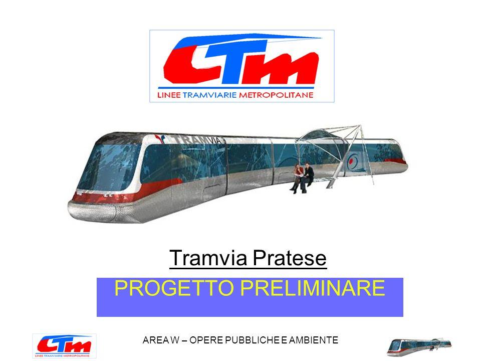 AREA W – OPERE PUBBLICHE E AMBIENTE Tramvia Pratese PROGETTO PRELIMINARE