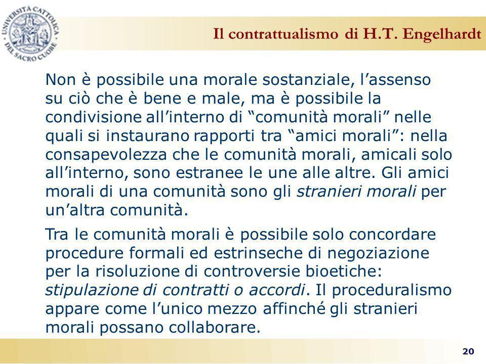 20 Il contrattualismo di H.T.
