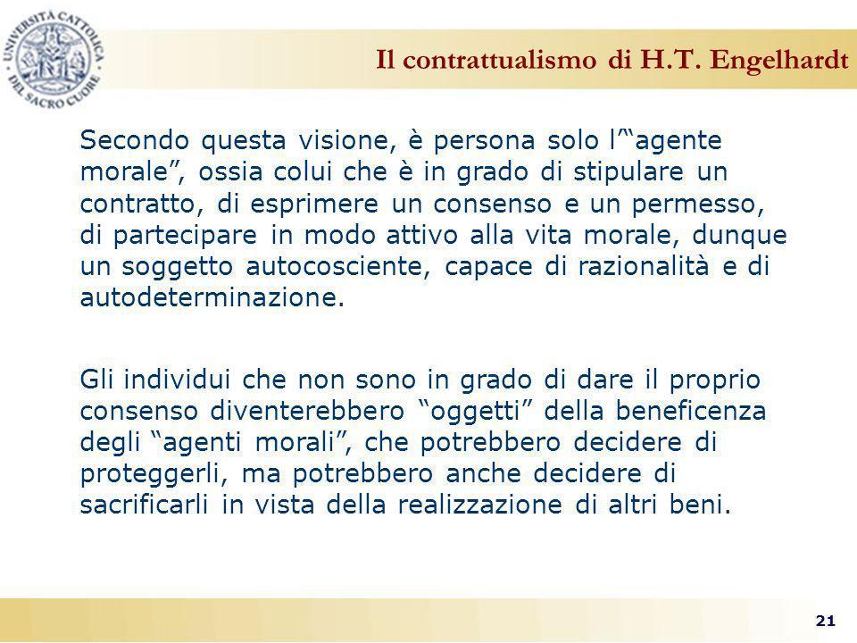 21 Il contrattualismo di H.T.