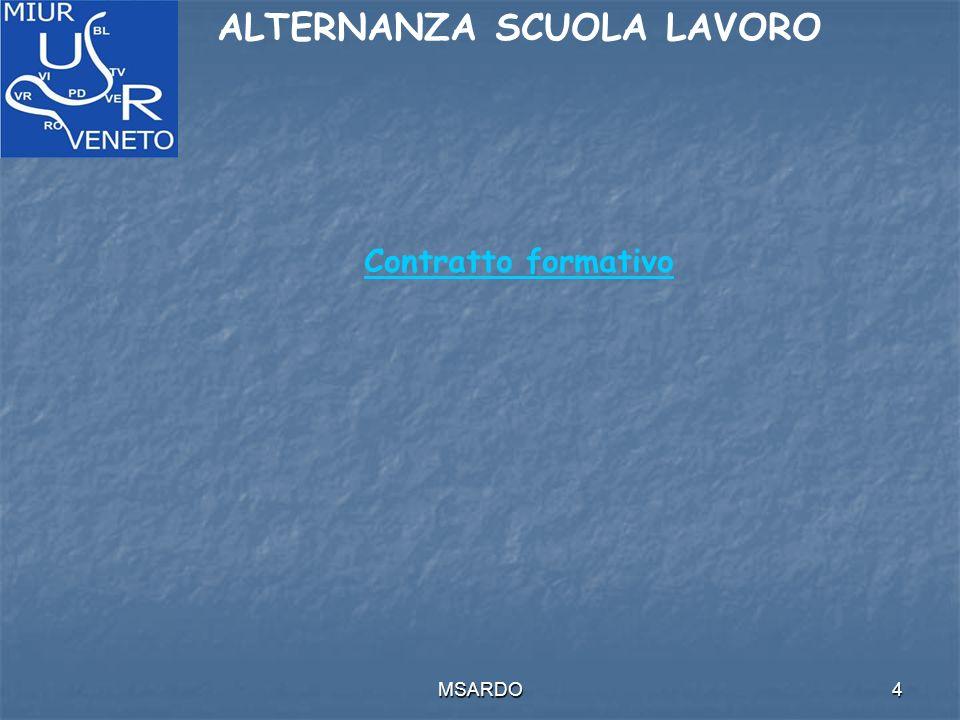 MSARDO4 ALTERNANZA SCUOLA LAVORO Contratto formativo