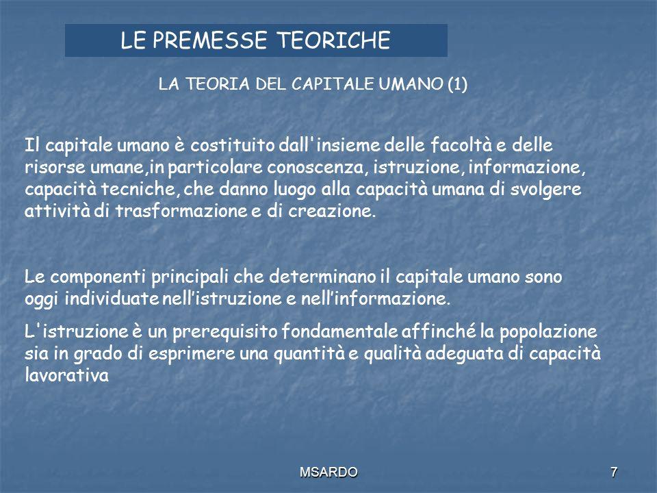 MSARDO18 I RIFERIMENTI NORMATIVI Patto per il lavoro del 1996.