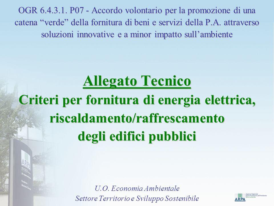 Fonti Toolkit EU GPP: 1.Scheda prodotto ENERGIA ELETTRICA 2.