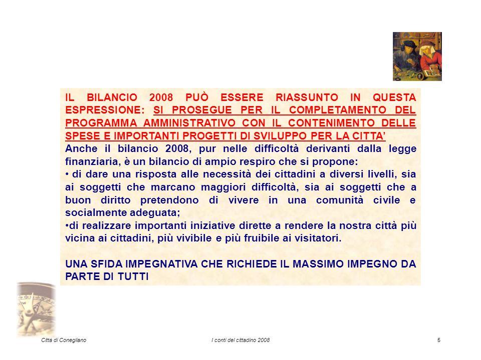 Città di ConeglianoI conti del cittadino 200826 ED ECCO LE CIFRE …...