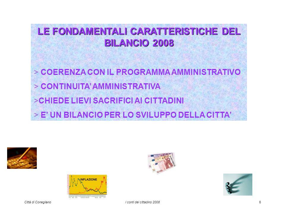 Città di ConeglianoI conti del cittadino 200817 ENTRATE DERIVANTI DA ASSUNZIONE DI PRESTITI ossia entrate da prestiti contratti con la Cassa DD.PP.