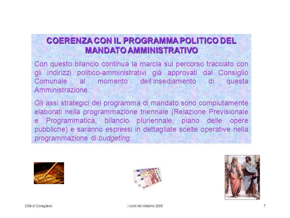 Città di ConeglianoI conti del cittadino 200858 PESA PUBBLICA TARIFFA SINGOLA PESATA euro 1,00(iva inclusa)/100 q.li (per pesi da 0 e fino a 600 quintali) Confermate le tariffe 2007