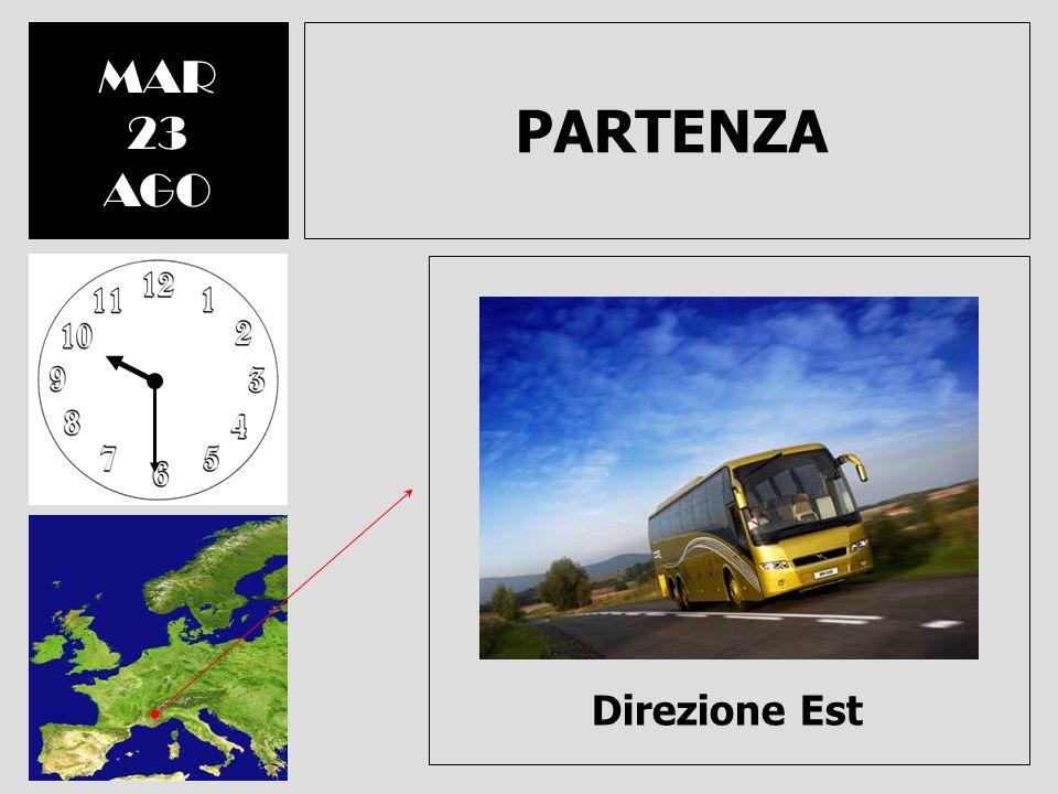 PARTENZA MAR 23 AGO Direzione Est