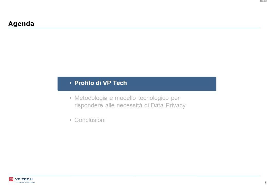 1 CODICE Agenda Profilo di VP Tech Metodologia e modello tecnologico per rispondere alle necessità di Data Privacy Conclusioni