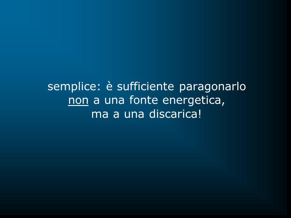 semplice: è sufficiente paragonarlo non a una fonte energetica, ma a una discarica!