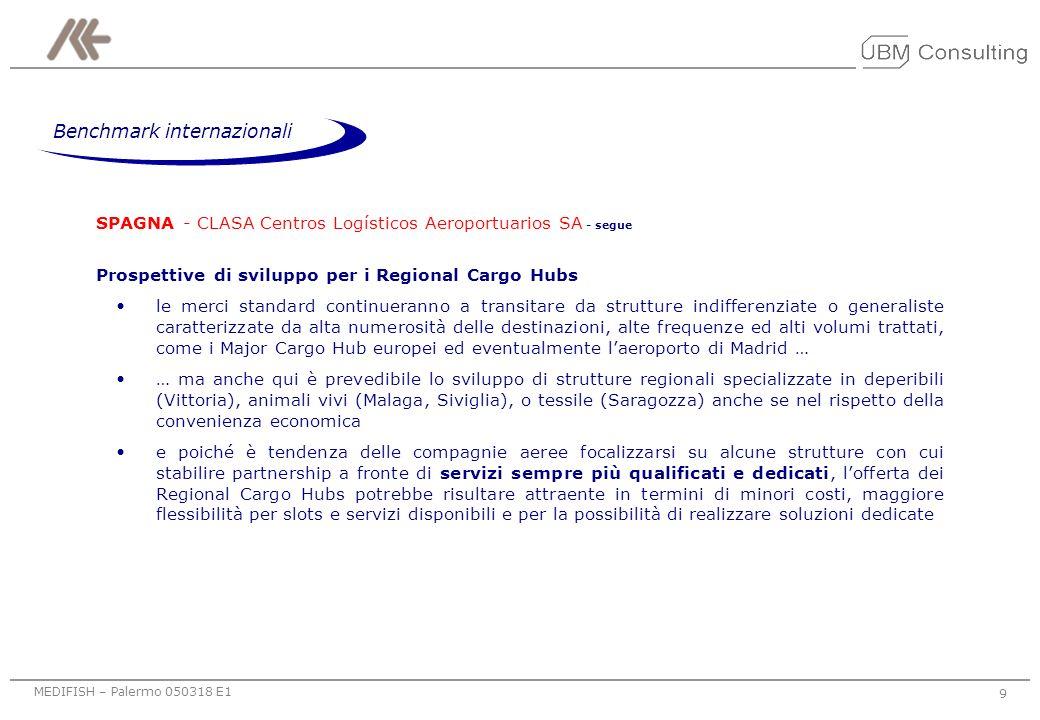 MEDIFISH – Palermo 050318 E1 8 SPAGNA - CLASA Centros Logísticos Aeroportuarios SA agenzia pubblica dedicata alla promozione del CA prevalentemente su