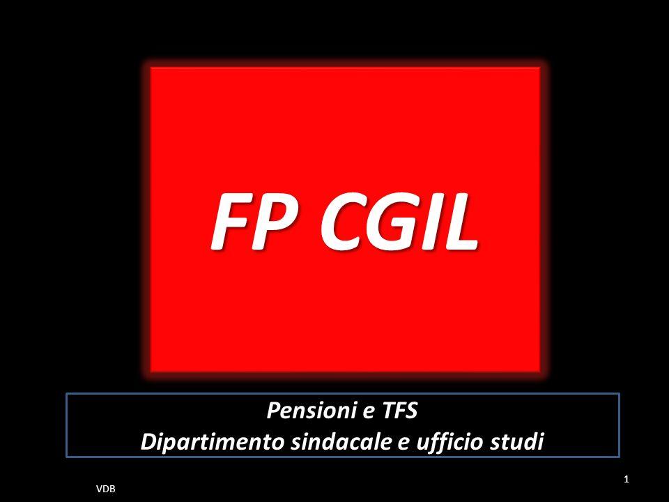 FP CGIL Pensioni e TFS Dipartimento sindacale e ufficio studi 1 VDB