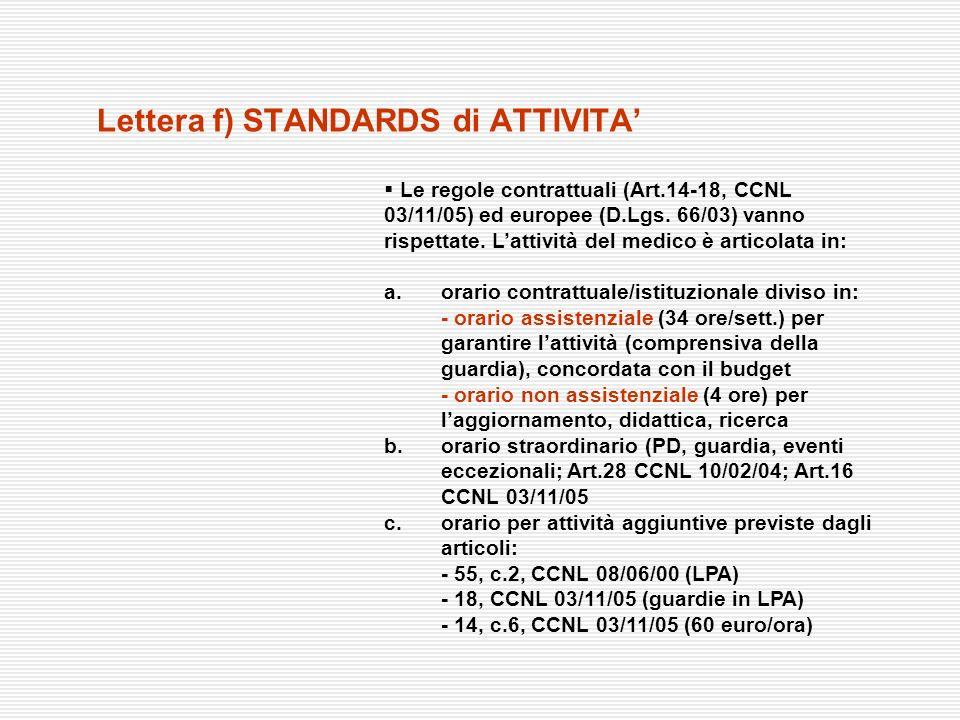 Le regole contrattuali (Art.14-18, CCNL 03/11/05) ed europee (D.Lgs. 66/03) vanno rispettate. Lattività del medico è articolata in: a. orario contratt