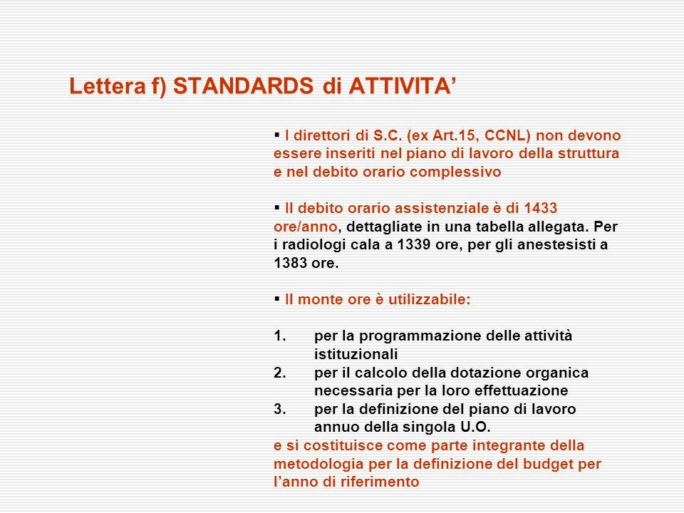 I direttori di S.C. (ex Art.15, CCNL) non devono essere inseriti nel piano di lavoro della struttura e nel debito orario complessivo Il debito orario