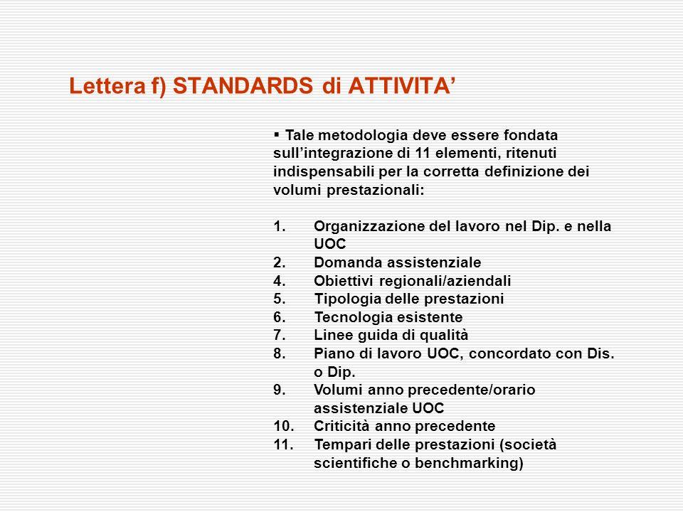 Tale metodologia deve essere fondata sullintegrazione di 11 elementi, ritenuti indispensabili per la corretta definizione dei volumi prestazionali: 1.