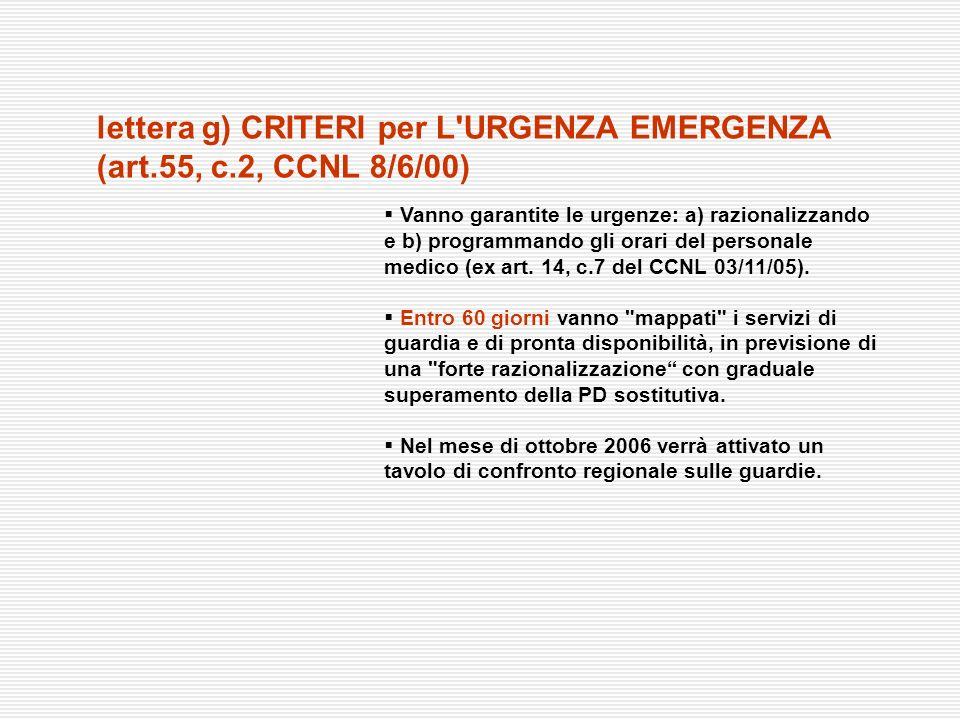 Vanno garantite le urgenze: a) razionalizzando e b) programmando gli orari del personale medico (ex art. 14, c.7 del CCNL 03/11/05). Entro 60 giorni v