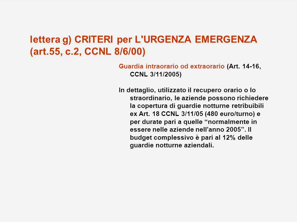 Guardia intraorario od extraorario (Art. 14-16, CCNL 3/11/2005) In dettaglio, utilizzato il recupero orario o lo straordinario, le aziende possono ric