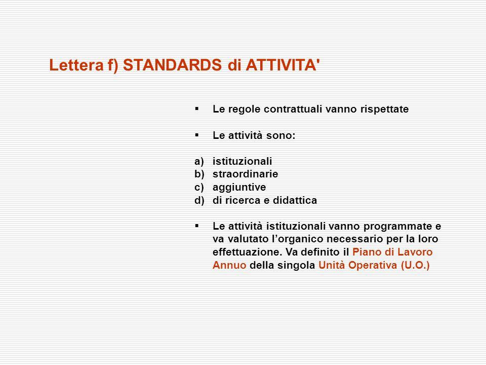 Le regole contrattuali vanno rispettate Le attività sono: a) istituzionali b) straordinarie c) aggiuntive d)di ricerca e didattica Le attività istituz