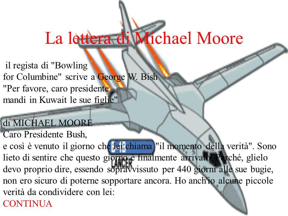 La lettera di Michael Moore il regista di
