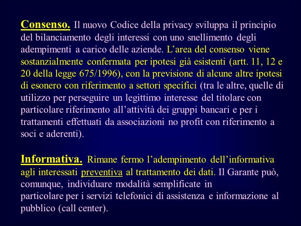 Consenso. Il nuovo Codice della privacy sviluppa il principio del bilanciamento degli interessi con uno snellimento degli adempimenti a carico delle a