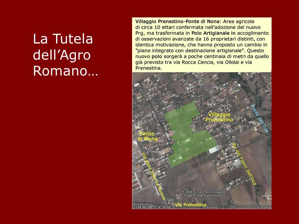 La Tutela dellAgro Romano…