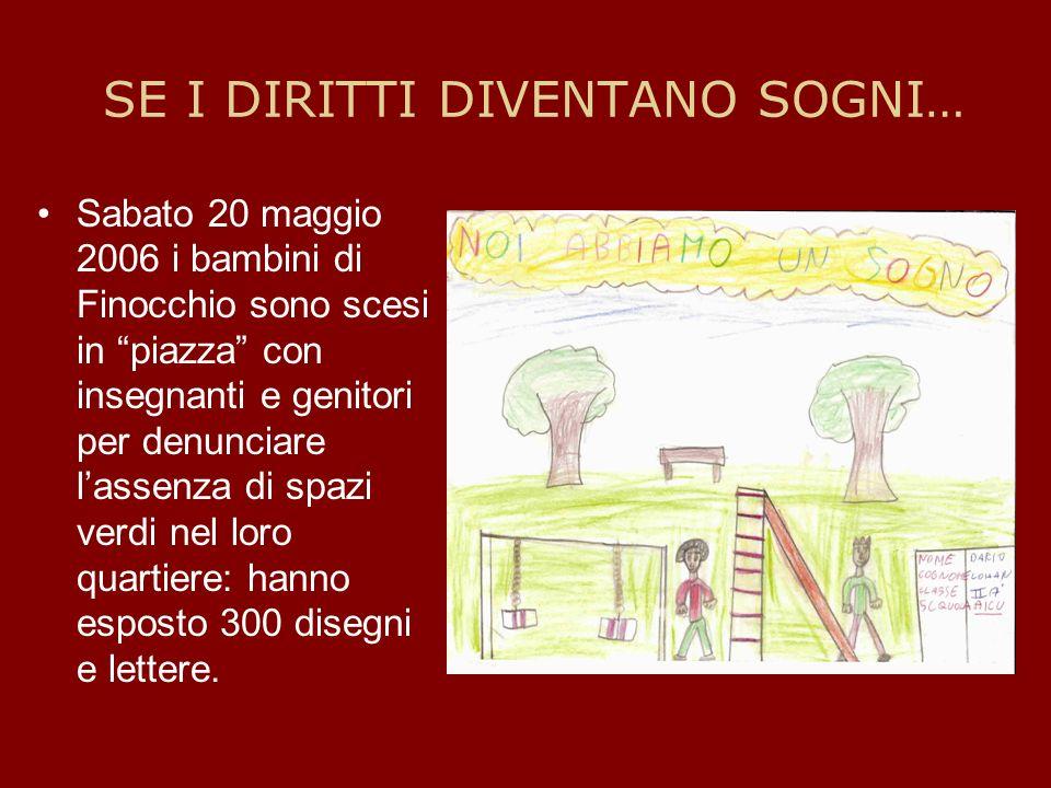 SE I DIRITTI DIVENTANO SOGNI… Sabato 20 maggio 2006 i bambini di Finocchio sono scesi in piazza con insegnanti e genitori per denunciare lassenza di s