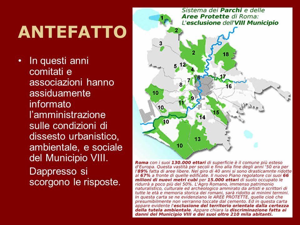 La tutela dellAgro Romano… In queste immagini esempi di aree agricole (con vincolo assoluto di edificabilità), che il Piano Regolatore nella fase finale di approvazione (controdeduzioni), rende edificabili ai privati.