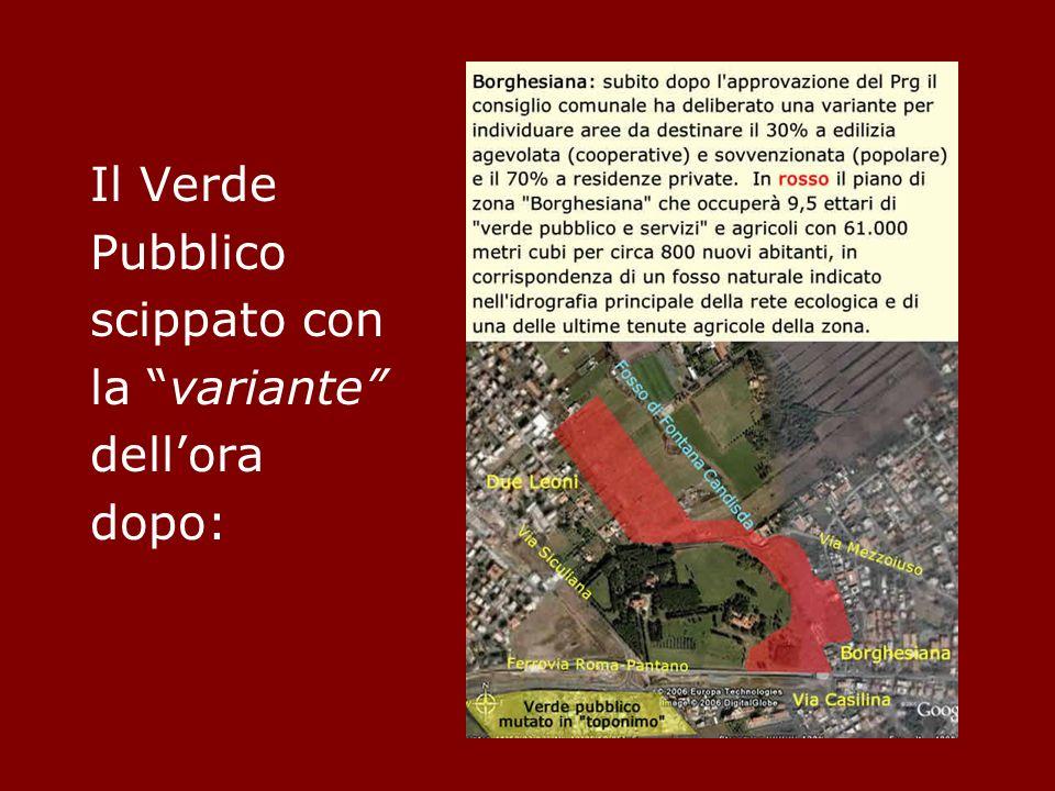 Senza contare lAgro Romano sulla carta, occupato da attività che non hanno nulla a che vedere con la destinazione stabilita, né con la tutela del paesaggio.