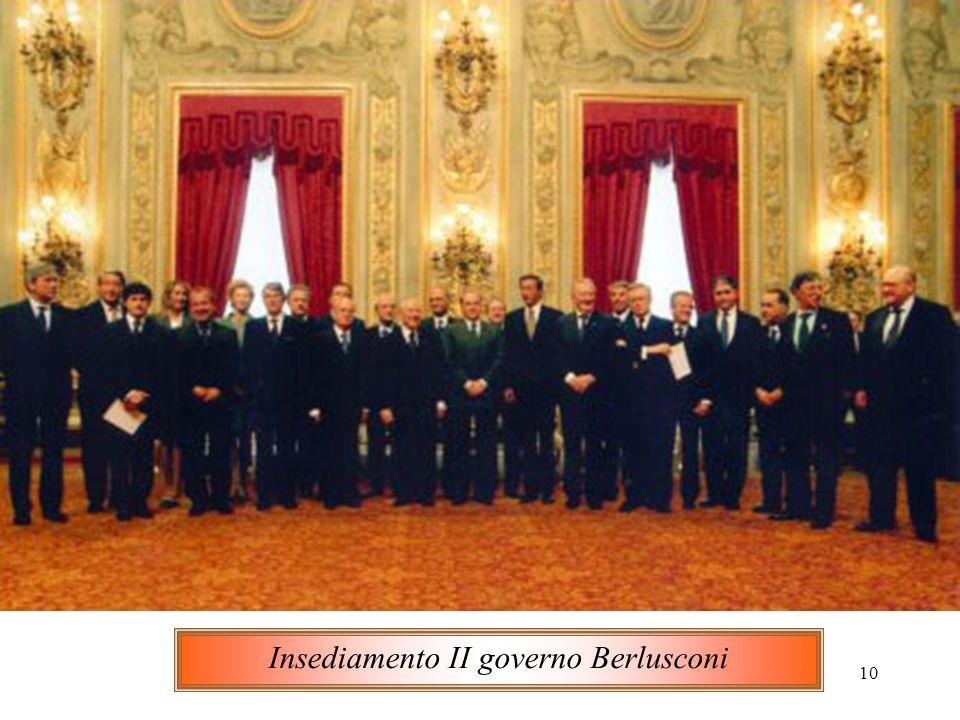 10 Insediamento II governo Berlusconi