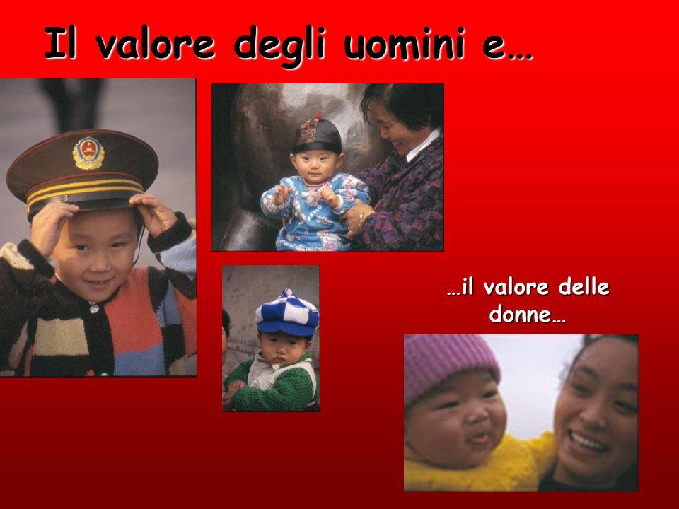 4 Il valore degli uomini e… …il valore delle donne…