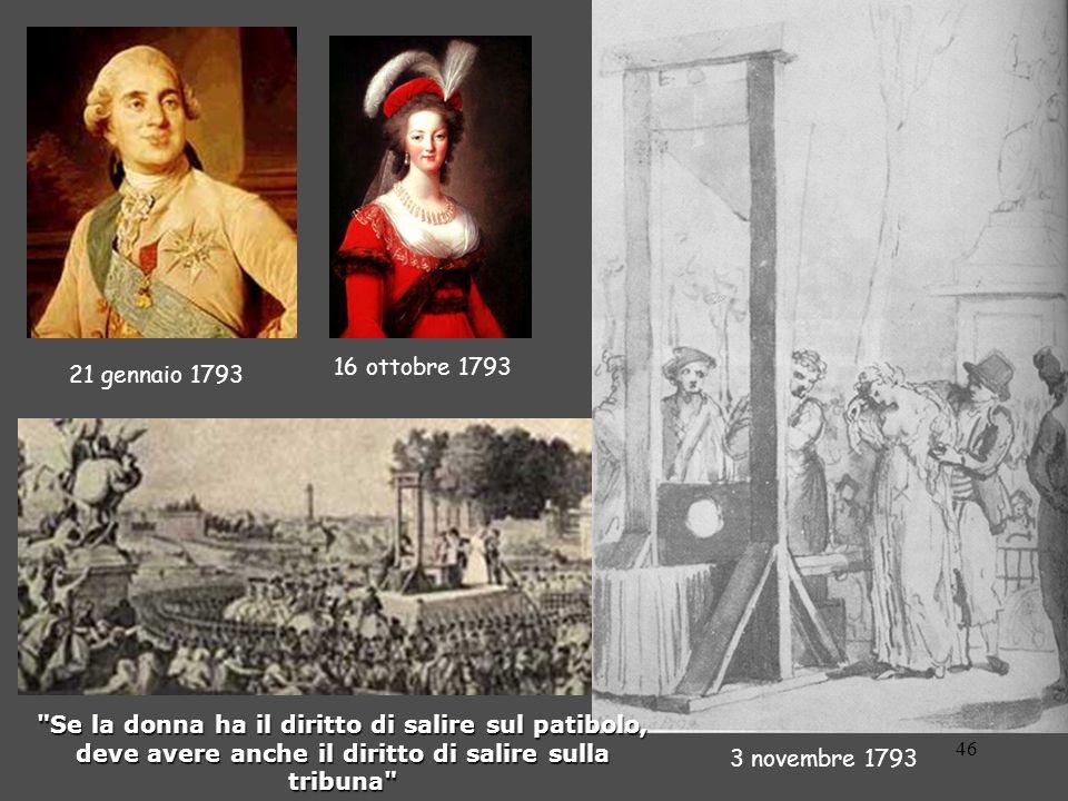 46 21 gennaio 1793 16 ottobre 1793 3 novembre 1793