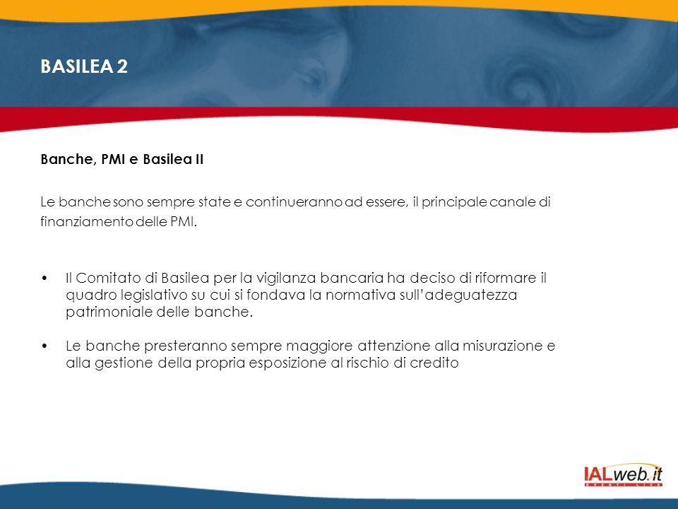 BASILEA 2 Il rating del cliente quindi può determinare non solo laccettazione o il rifiuto della richiesta di credito, ma anche lentità delle garanzie occorrenti e la durata massima del prestito.